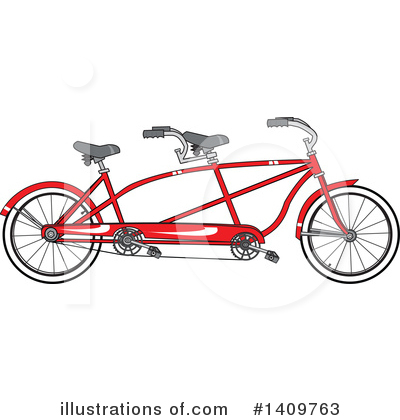 Tandem Bicycle Clipart #1409763 by djart