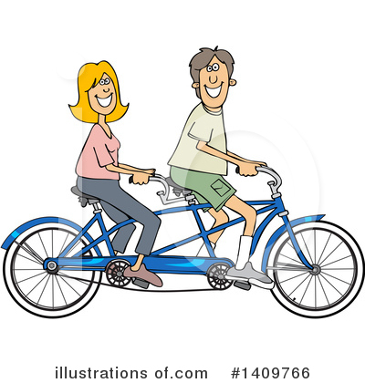 Tandem Bicycle Clipart #1409766 by djart