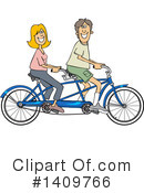 Bicycle Clipart #1409766 by djart