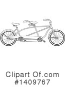 Bicycle Clipart #1409767 by djart