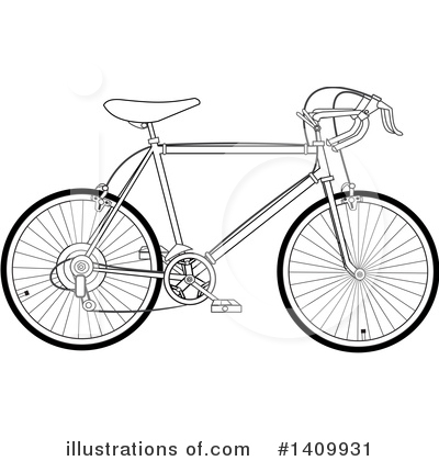 Bicycle Clipart #1409931 by djart