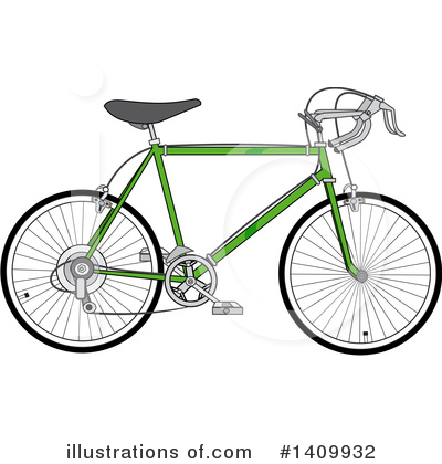 Bicycle Clipart #1409932 by djart