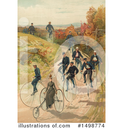 Penny Farthing Clipart #1498774 by JVPD