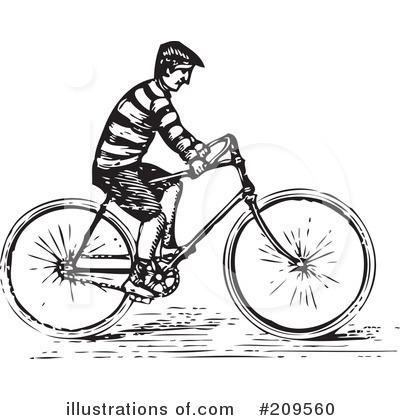 Royalty-Free (RF) Bicycle Clipart Illustration by BestVector - Stock Sample #209560