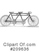 Royalty-Free (RF) Bicycle Clipart Illustration #209636