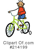 Royalty-Free (RF) Bicycle Clipart Illustration #214199