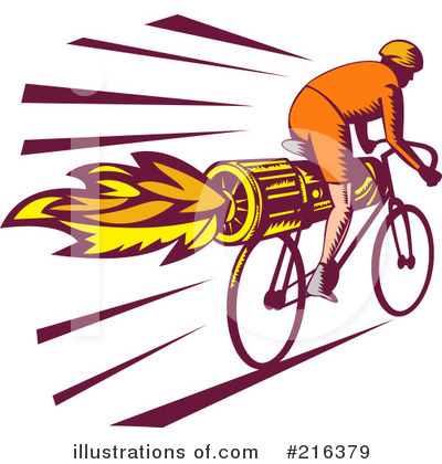 Cyclist Clipart #216379 by patrimonio