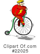 Bicycle Clipart #22025 by Holger Bogen