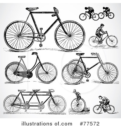Royalty-Free (RF) Bicycle Clipart Illustration by BestVector - Stock Sample #77572