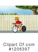 Bicycling Clipart #1206397 by Graphics RF