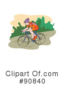 Royalty-Free (RF) Bicycling Clipart Illustration #90840