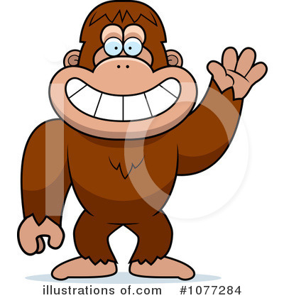 Sasquatch Clipart #1077284 by Cory Thoman