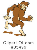 Royalty-Free (RF) Big Foot Clipart Illustration #35499
