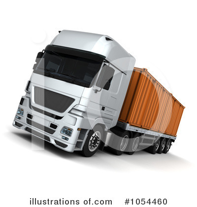 Trucking Clipart #1054460 by KJ Pargeter