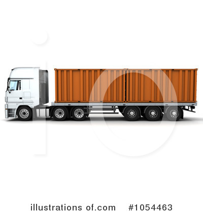 Trucking Clipart #1054463 by KJ Pargeter