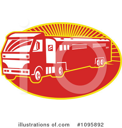 Trucking Clipart #1095892 by patrimonio