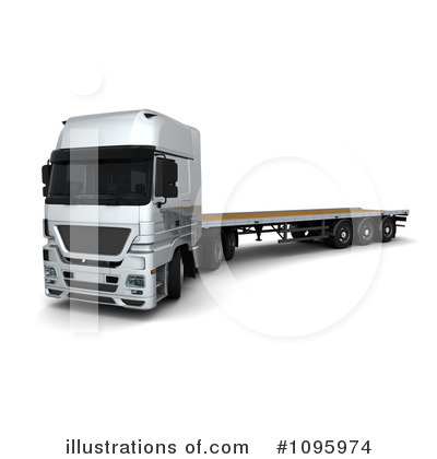 Trucking Clipart #1095974 by KJ Pargeter