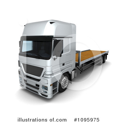 Trucking Clipart #1095975 by KJ Pargeter