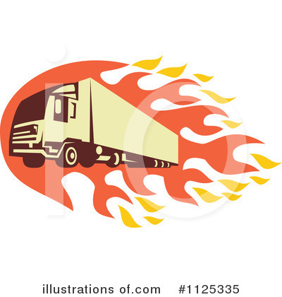 Trucking Clipart #1125335 by patrimonio