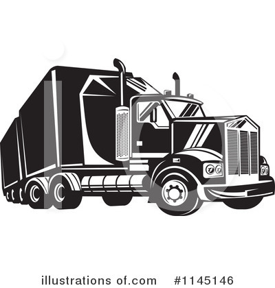 Trucking Clipart #1145146 by patrimonio