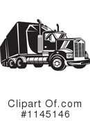 Big Rig Clipart #1145146 by patrimonio