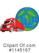 Big Rig Clipart #1145167 by patrimonio