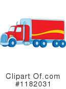 Royalty-Free (RF) big rig Clipart Illustration #1182031