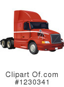 Big Rig Clipart #1230341 by dero