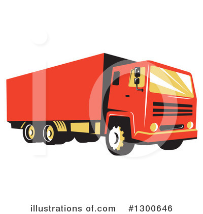 Delivery Van Clipart #1300646 by patrimonio