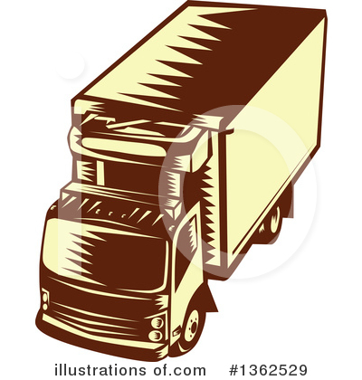 Trucking Clipart #1362529 by patrimonio