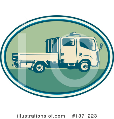 Trucking Clipart #1371223 by patrimonio