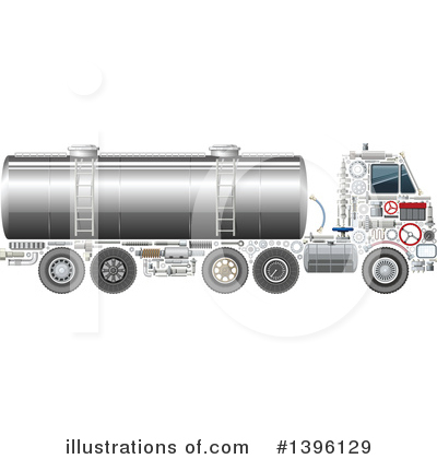 Truck Clipart #1396129 by Vector Tradition SM
