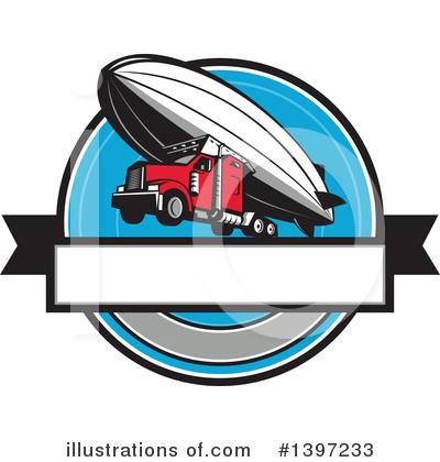 Big Rig Clipart #1397233 by patrimonio