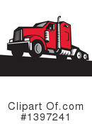 Big Rig Clipart #1397241 by patrimonio