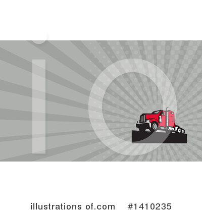 Big Rig Clipart #1410235 by patrimonio