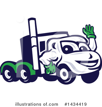Trucking Clipart #1434419 by patrimonio