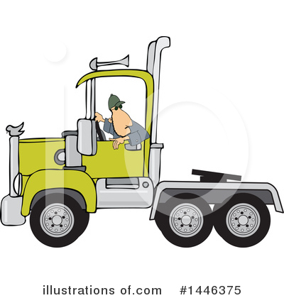 Big Rig Clipart #1446375 by djart
