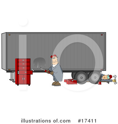 Big Rig Clipart #17411 by djart