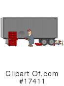 Royalty-Free (RF) Big Rig Clipart Illustration #17411