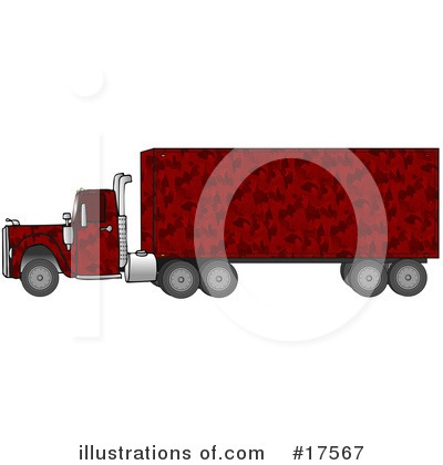 Big Rig Clipart #17567 by djart