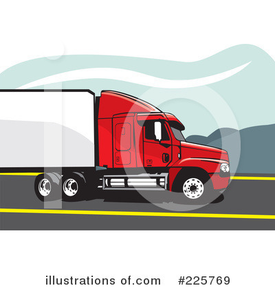Trucking Industry Clipart #225769 by David Rey
