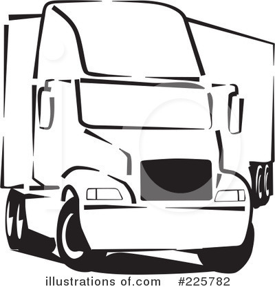 Trucking Industry Clipart #225782 by David Rey