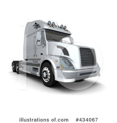 Trucking Clipart #434067 by KJ Pargeter