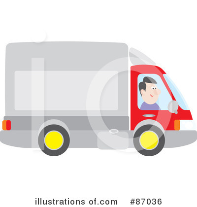 Royalty-Free (RF) Big Rig Clipart Illustration by Alex Bannykh - Stock Sample #87036