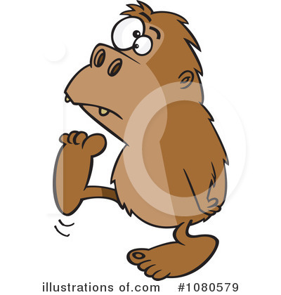 Sasquatch Clipart #1080579 by toonaday