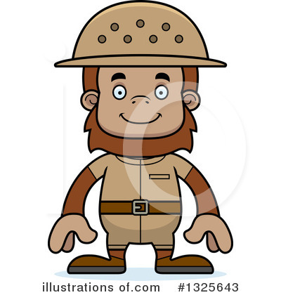 Sasquatch Clipart #1325643 by Cory Thoman