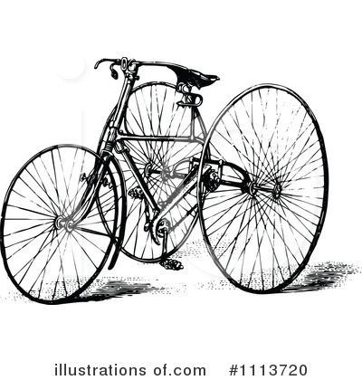 Royalty-Free (RF) Bike Clipart Illustration by Prawny Vintage - Stock Sample #1113720