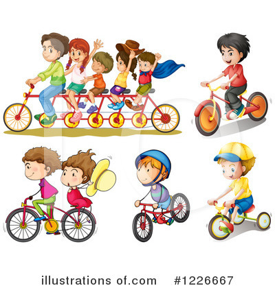 Tandem Bicycle Clipart #1226667 by Graphics RF