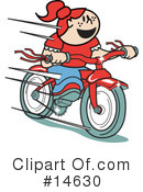 Royalty-Free (RF) bike Clipart Illustration #14630