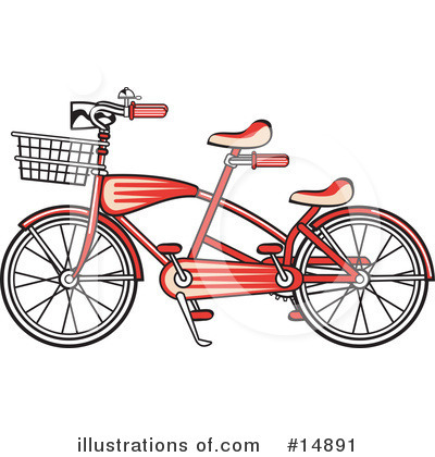Royalty-Free (RF) Bike Clipart Illustration by Andy Nortnik - Stock Sample #14891